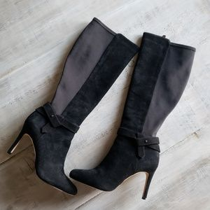 WHBM | Suede 50/50 Stretch Heeled Boots